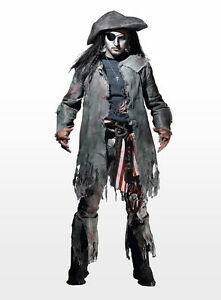 zombiepirat halloween kost m zombie pirat piratenkost m geisterpirat geist ebay. Black Bedroom Furniture Sets. Home Design Ideas