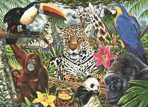 Zoo montage dschungel tiere malerei acryl malen nach for Dschungel malen
