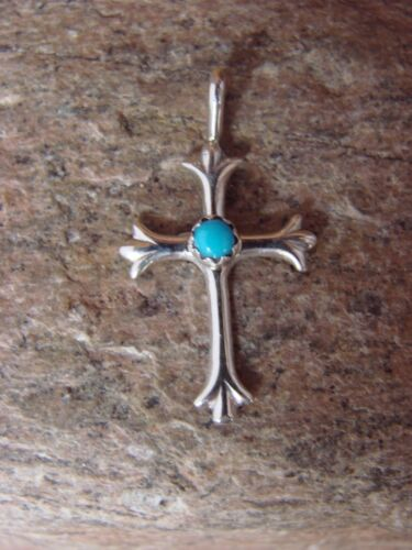 Zuni Indian Sterling Silver & Turquoise Cross Pendant! Native American in Jewelry & Watches, Ethnic, Regional & Tribal, Native American | eBay