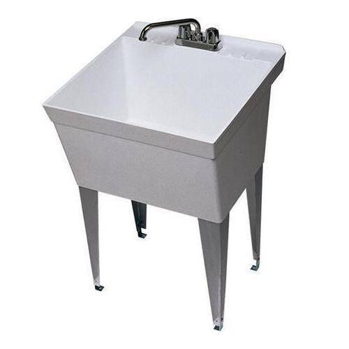 Details about Zurn Single Bowl 21 Gallon Laundry Tub Utility Sink with ...