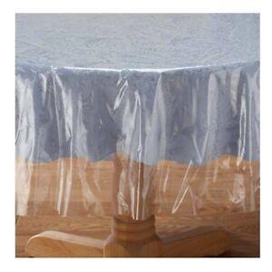 abwischbare abwaschbare tischdecke transparent rund oder. Black Bedroom Furniture Sets. Home Design Ideas