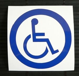 Adesivo cartello segnale handicap decal sticker sign for Sedia a rotelle tuning
