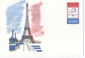 alte-DDR-Ersttagspostkarte-Briefmarken-Weltausstellung-PhilexFrance-89-NEU