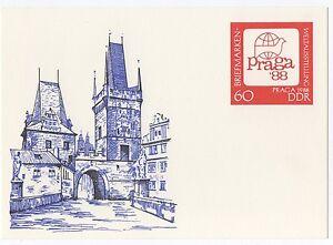 alte-DDR-Ersttagspostkarte-Briefmarken-Weltausstellung-Praga-88-NEU