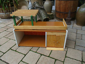 altes ddr vero albin sch nherr puppenhaus gartenhaus mit garage ebay. Black Bedroom Furniture Sets. Home Design Ideas
