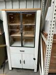 Arizona vitrine wit + railway brown (nieuw, outlet)
