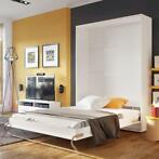 Concept verticaal opklapbed - wit | Mister Bed