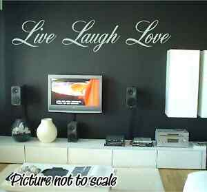 Custom Live Laugh Love Wall Decal Any Color Home Decor eBay