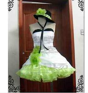 Gumi Cosplay on Custom Vocaloid Camellia Gumi Dress Cosplay Costume Glove Hat A Wig