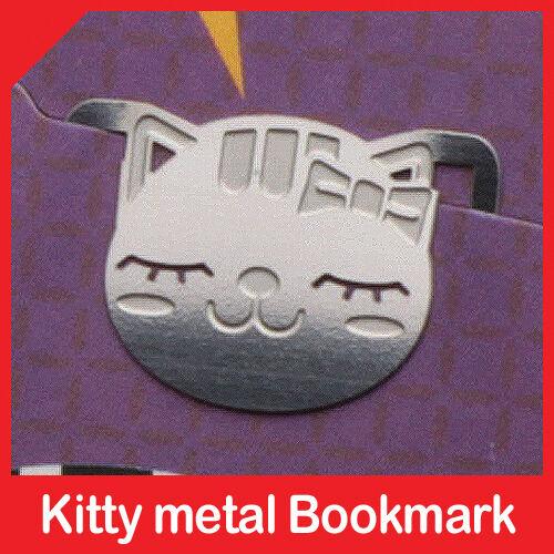 cute mini metal RIBBON KITTY GIRL bookmark silver color for gift korea fashion in Books, Accessories, Bookmarks | eBay