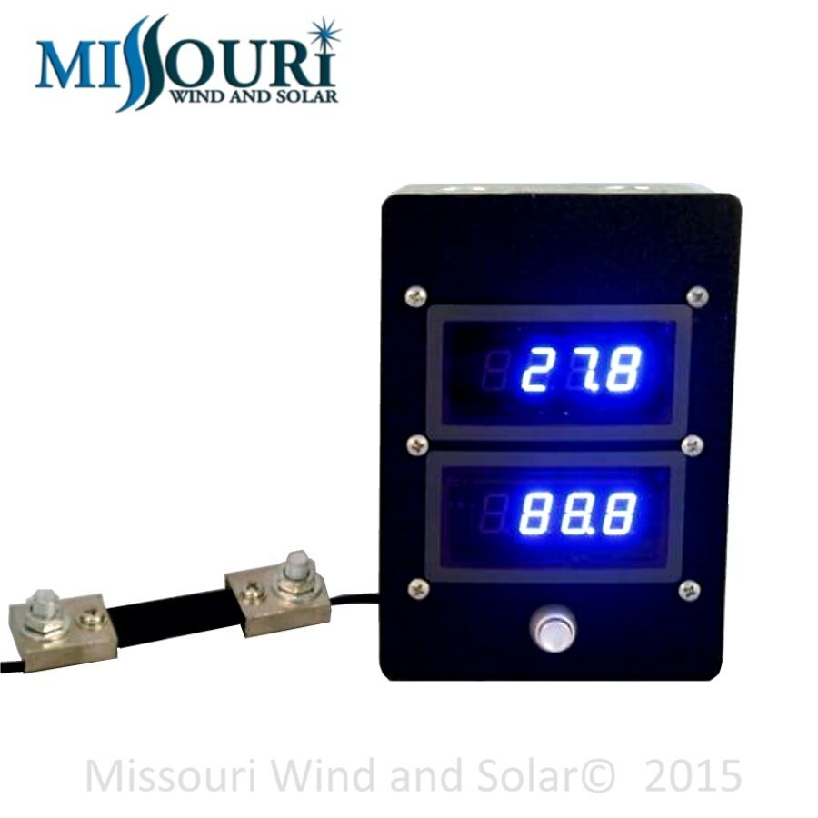 Dc Digital 100 Amp 100 Volt Meter For Wind Turbine Solar