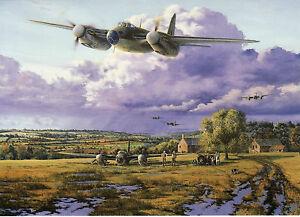 Mosquito patrol world war 2 royal air force raf greeting card art