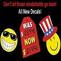 windshield decals for auto dealers