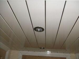 Decorative Bathroom Pvc Plastic Ceiling Cladding Grooved