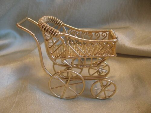 dollhouse doll house miniature BABY CARRIAGE BUGGY in Dolls & Bears, Dollhouse Miniatures, Miniatures | eBay