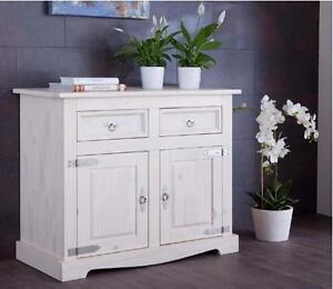 dt hersteller kiefer massiv wei kommode diele sideboard schrank t ren ebay. Black Bedroom Furniture Sets. Home Design Ideas