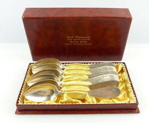 e3526-6-alte-Gruenderzeit-Kaffeeloeffel-aus-800er-Silber-Halbmond-Krone