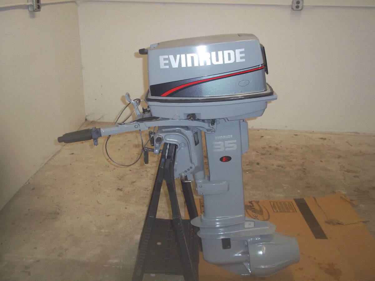 Evinrude 35 hp boat motor jet drive on popscreen for Used outboard motors nj