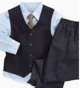 festliche 5 teilige jungen kinderanzug in gestreifte blau. Black Bedroom Furniture Sets. Home Design Ideas