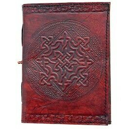 genuine brown leather celtic design blank journal 120 linen parchment pages 5x7 in Books, Accessories, Blank Diaries & Journals | eBay