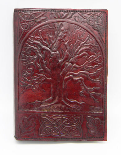 genuine brown leather celtic tree of life blank journal 120 linen pages 5x7 in Books, Accessories, Blank Diaries & Journals | eBay