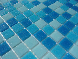 glas mosaik fliesen pool dusche bad azur blau hellblau dunkelblau sauna mix ebay. Black Bedroom Furniture Sets. Home Design Ideas
