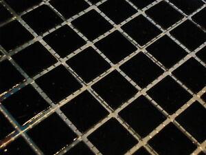glasmosaik mosaik fliesen bad pool dusche schwarz 1 5 x 1 5 cm dusche sauna top ebay. Black Bedroom Furniture Sets. Home Design Ideas