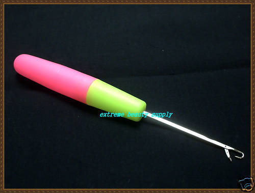 Green Crochet Needles Metal Rug Hook Latch Hook Pink
