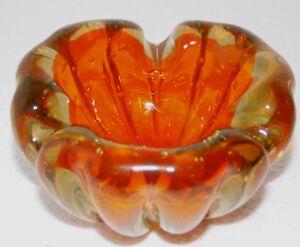 huebsche-Schale-Ascher-gelb-orange-ca-5-5-cm-h-ca-10-cm-Durchm-ca-582-gr
