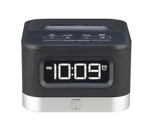 ihome ic50 black fm stereo alarm clock radio android cell phone charger ebay. Black Bedroom Furniture Sets. Home Design Ideas