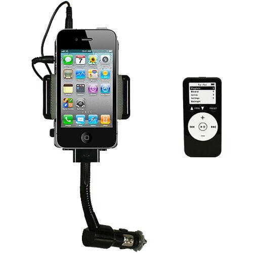 iMounTEK Phone MP3 Player FM Transmitter ~ Car Charger ~ Holder w/ 3.5mm Plug