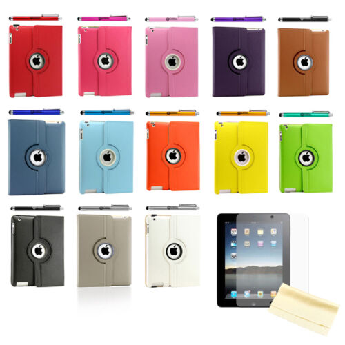iPad 2 360 Rotating Magnetic Leather Case Smart Cover Stand Choose from 12 Color in Computers/Tablets & Networking, iPad/Tablet/eBook Accessories, Cases, Covers, Keyboard Folios | eBay