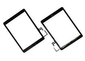 iPad-Air-1-Touchscreen-Digitizer-Glas-Touch-Scheibe-Home-Button-Klebe-Schwarz