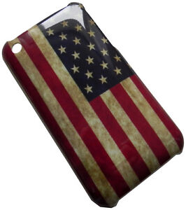 iPhone-3G-3GS-Hard-Case-USA-Amerika-Flagge-Retro-Cover-Kunststoff-Huelle-Schale