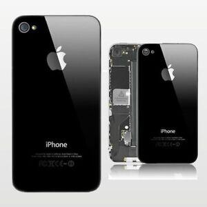 iPhone-4-Akkudeckel-Rueckseite-Backcover-schwarz-aus-Glas-m-Werkzeug-Paket-Versan