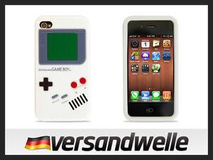 iPhone-4G-4-4S-GAMEBOY-Silikoncase-Schutz-Huelle-Case-Schale-Cover-Etui-weiss