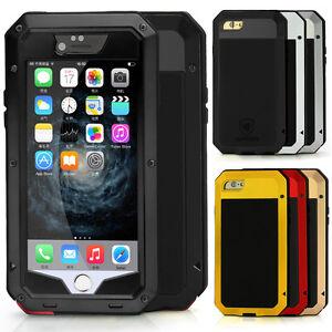 iPhone-4S-5-5s-6-6s-Plus-Metall-Case-Huelle-Handytasche-Bumper-Schutzhuelle-Etui