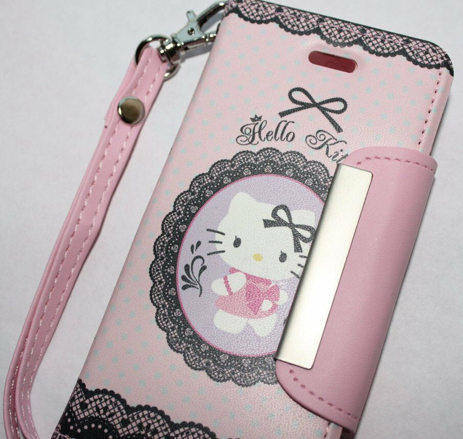 photo backup iphone iphone 5 5s se hello kitty leather wallet flip pouch 12770