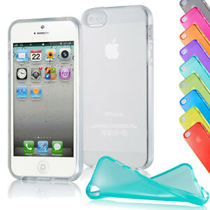 iPhone-5-5s-TPU-Case-Cover-Bumper-Schutz-Huelle-Silikon-Tasche-Etui-TRANSPARENT