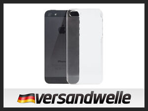 iPhone-5-Crystal-Case-ULTRA-SLIM-Hart-Hard-Cover-Schutz-Huelle-Bumper-TRANSPARENT