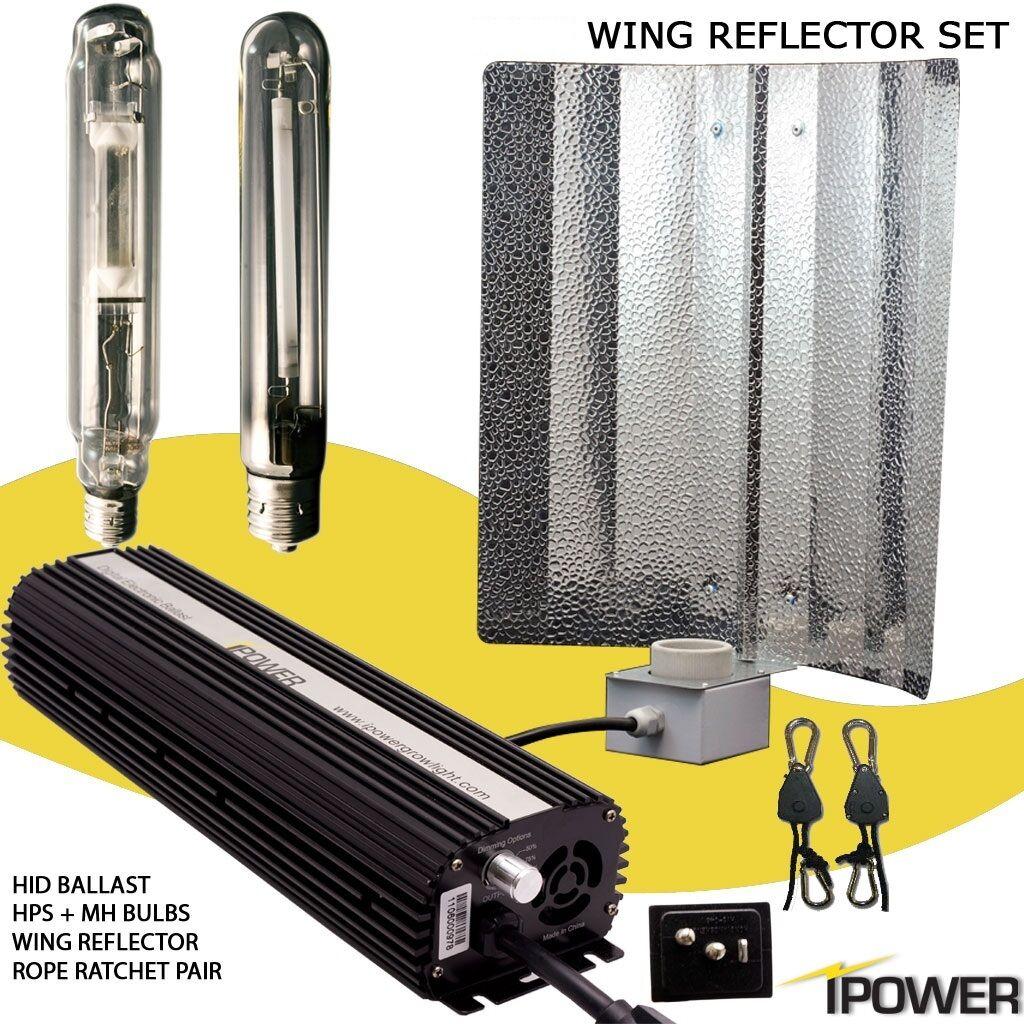iPower 250W 400W 600W 1000W Watt HPS MH Grow Light System Kit DIMM
