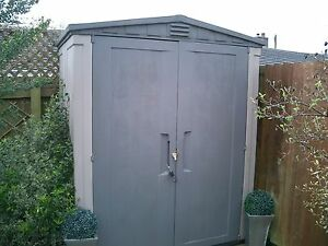 Keter plastic shed garden storage 6x3 ebay for Garden shed 6x3