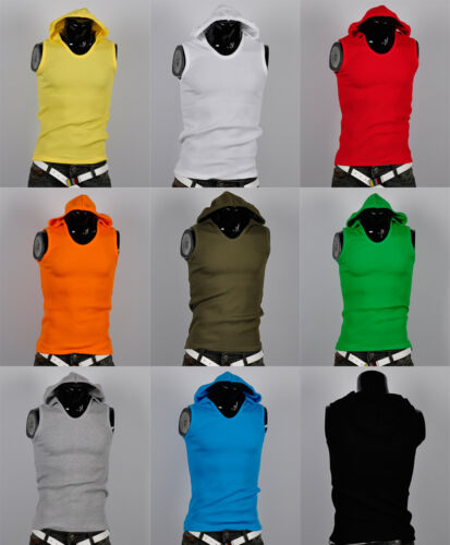 korea_pop mens sleeveless hoodie gym athletic tank top shirts hoody tee 9Color