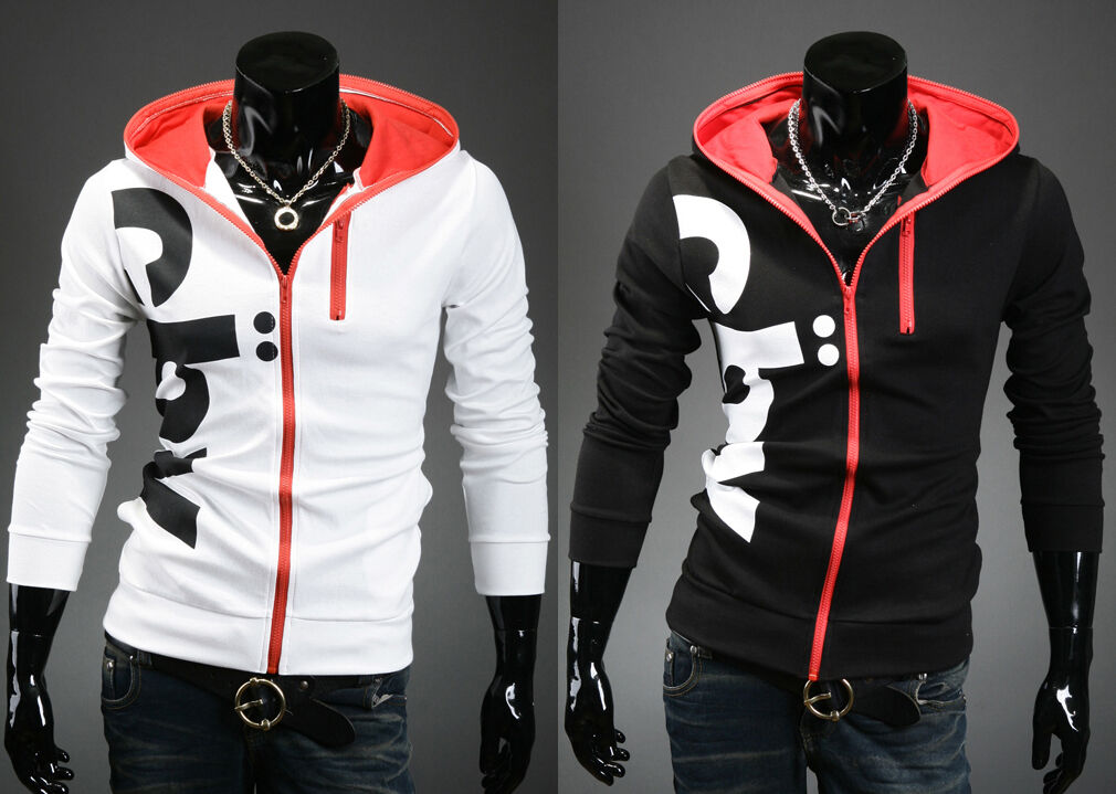 korea_top mens Designer pullover hoodies for men slim fit hoodie zip up sz S M
