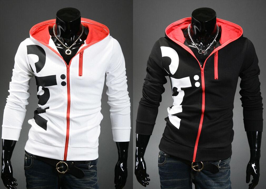 korea_top mens Designer pullover hoodies for men slim fit hoodie zip up sz S M