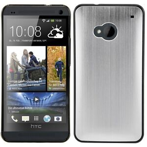 kwmobile-Schutz-Huelle-fuer-Htc-One-Silber-Aluminium-Case-Cover-Bumper-Handy-Hard