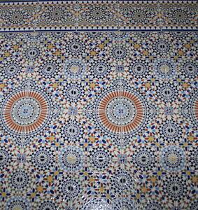 marokkanische keramik mosaik wandfliesen fliesen bunte k che bad samara 20x20cm ebay. Black Bedroom Furniture Sets. Home Design Ideas