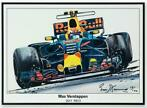 Max Verstappen Litho RB13 - 2017 | Red Bull Racing