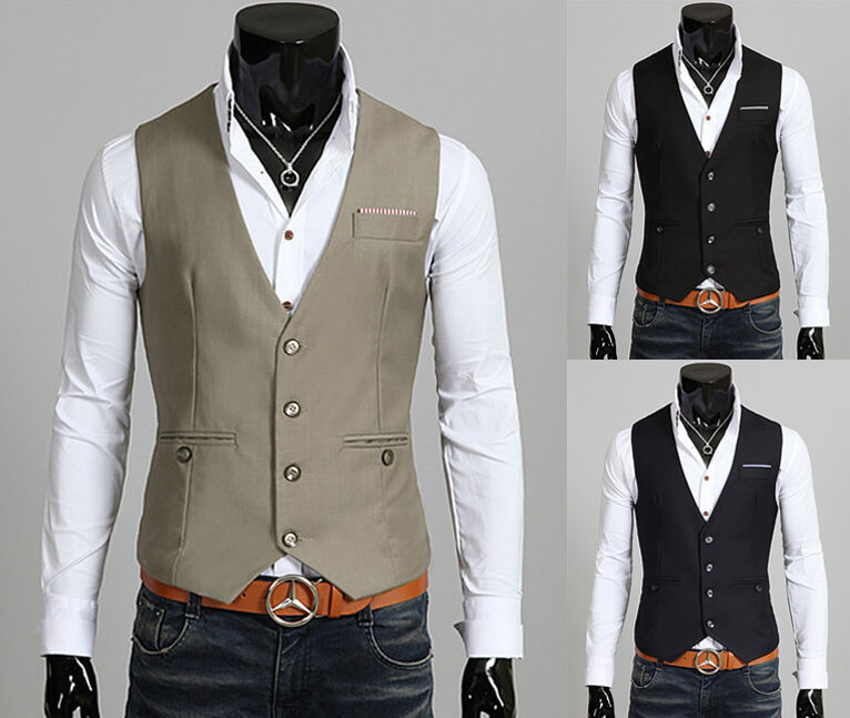 mens formal vest for men casual handkerchief Waistco dress vests jackets XS S M