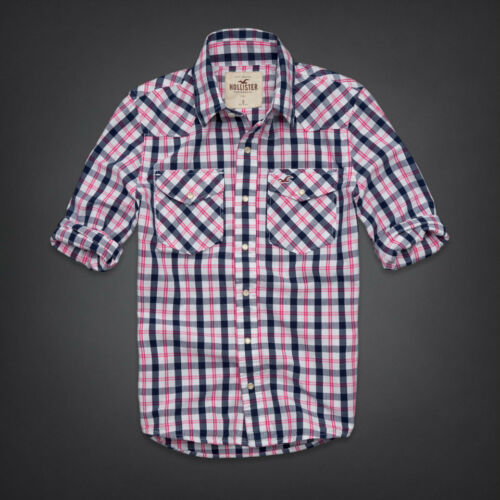men's hollister by abercrombie preppy button plaid shirt s small in Clothing, Shoes & Accessories, Men's Clothing, Casual Shirts | eBay